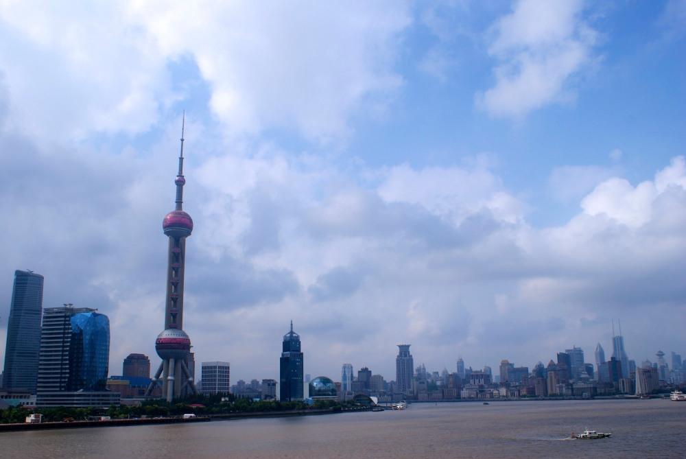 Port de Shanghai , arrivée en Ferry.
